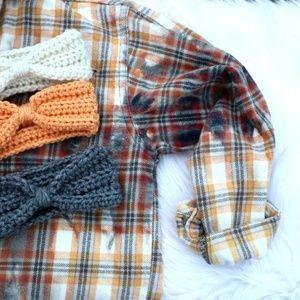 Handmade Child Crochet Ear Warmer Head Wrap